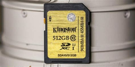Kingston 512GB SDXC Card Review (Class 10 UHS-1) – Size