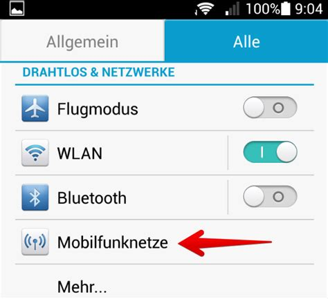 Mobiles Internet und Datenroaming unter Android