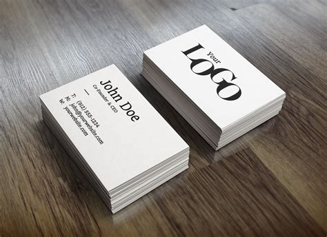 Realistic Business Card MockUp | GraphicBurger