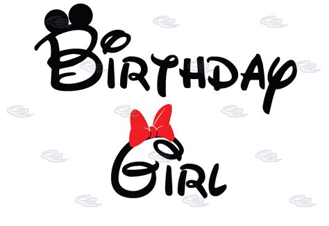 Birthday Girl Minnie Mouse Cute Red Bow On Shirt | Married