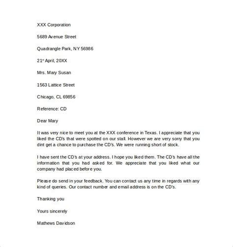 12 Business Letter Templates – Free Samples , Examples