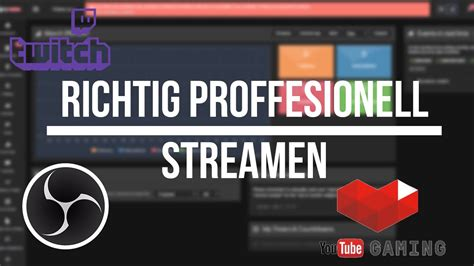 Richtig Professionell Streamen | OBS&Tipeeestream&YouTube