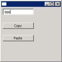 Using ClipBoard to copy and paste : Clipboard « SWT « Java