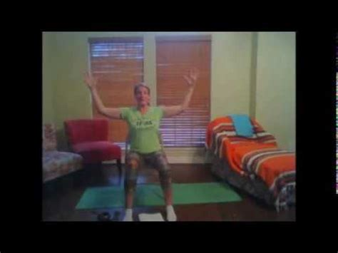 Chair yoga with breathing for vagus stimulation and