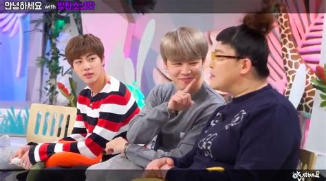 """Watch: BTS's Jin And Jimin Charm """"Hello Counselor"""" Hosts"""