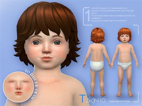 Toddlers Skin by S-Club | Sims 4 toddler, Sims