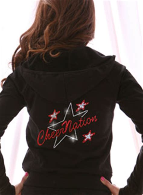 Custom Rhinestone Team Hoodie with Stars Personalized with