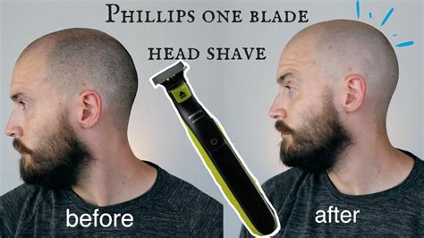 SHAVING MY HEAD - Phillips one blade head shave review