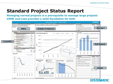 Project Management Status Report Template | shatterlion