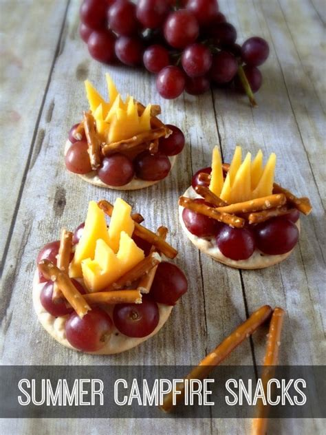 Summer Campfire Snacks by Inspiration for Moms | Skip To
