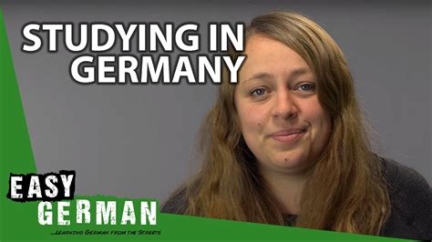 Talking about studying in Germany - German Basic Phrases