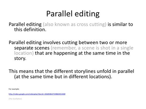 Lesson 3) Parallel editing & montage