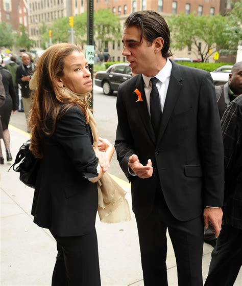 Jenny Lumet in Family And Friends Attend Services For