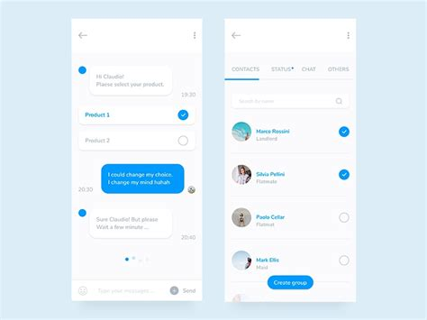 Mobile Chat App Design - free download by Claudio Parisi