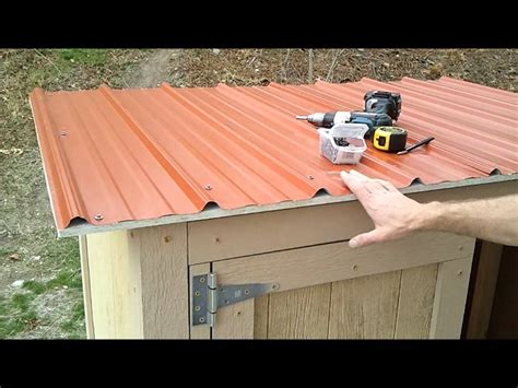 11-Installing Shed Metal Roofing - How to Build a
