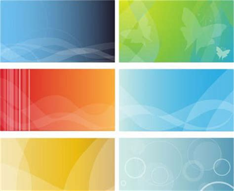 6 Colorful Business Cards Background - Free Vector Art