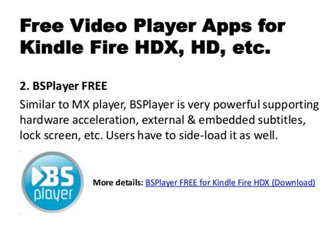 Best free video player apps for kindle fire hdx review