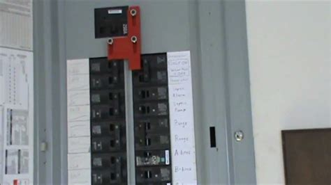 How to wire a generator to an electrical panel - YouTube