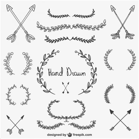 Calligraphic ornaments collection | Free Vector