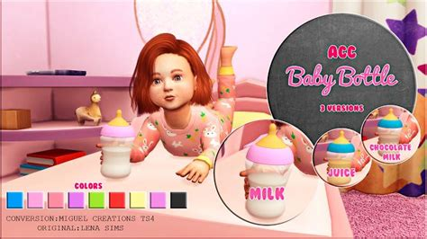 Baby Bottle by Miguel Creations | Sims 4 kleinkind