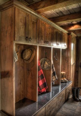 Cabin hall entry storage area