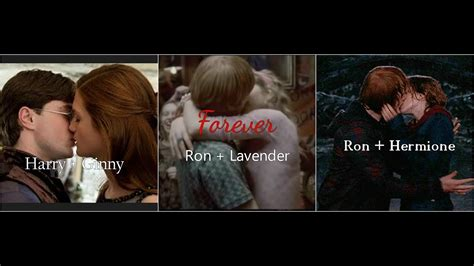 Harry + Ginny//Ron + Lavender//Ron + Hermione (Forever