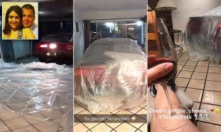 Wife loses bet to husband who fit his car in living room