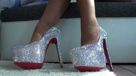 THE MOST EXPENSIVE LOUBOUTIN STRASS CRYSTAL HIGH HEELS