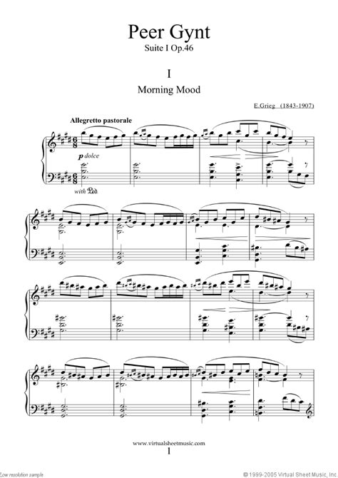 Grieg - Peer Gynt suite I and II sheet music for piano