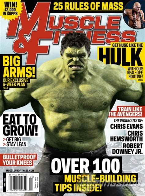 The Hulk Makes The Cover Of Muscle And Fitness Magazine