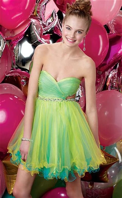 Alyce Sweet Sixteen Short Party Dress 3527 with Cutouts