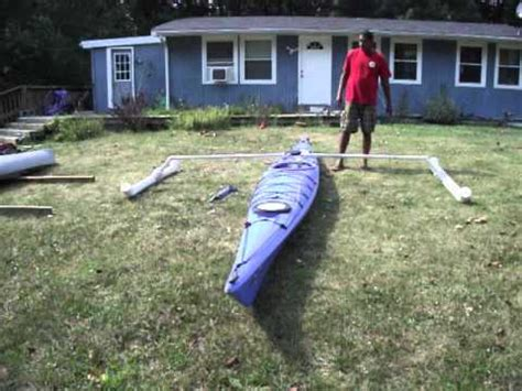 kayak outriggers - YouTube