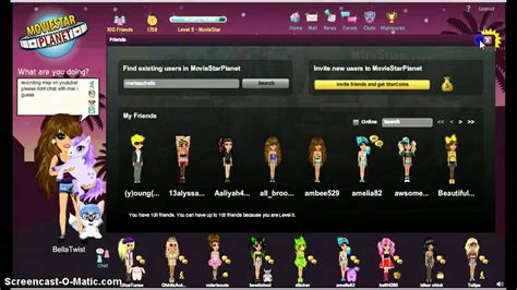 My MovieStarPlanet account! - YouTube