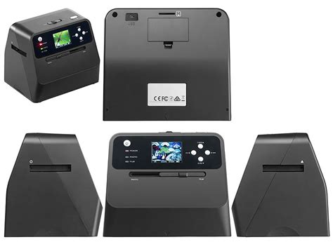 Somikon Fotoscanner: 3in1-Stand-Alone-Foto-, Dia