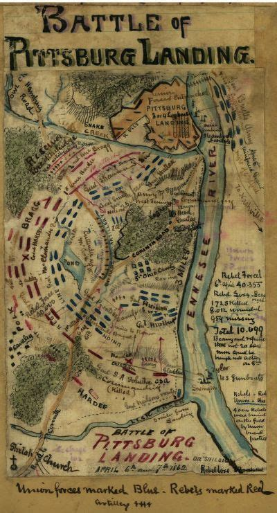 Civil War Maps, Available Online, Shiloh, Tennessee