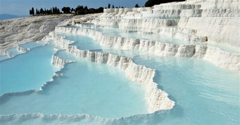 Wondrous crossings: Pamukkale, natural pools embedded in a