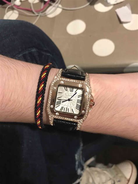 Iced Out Cartier Rep VVS Simulated Diamonds – Everything