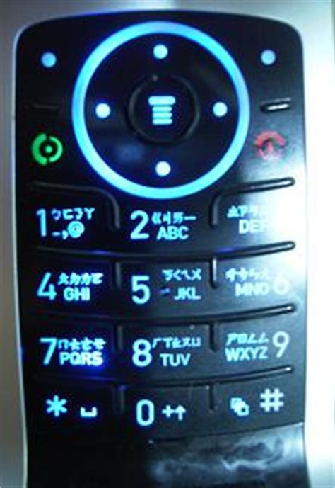 A Zhuyin Keypad on a Taiwanese Cell Phone