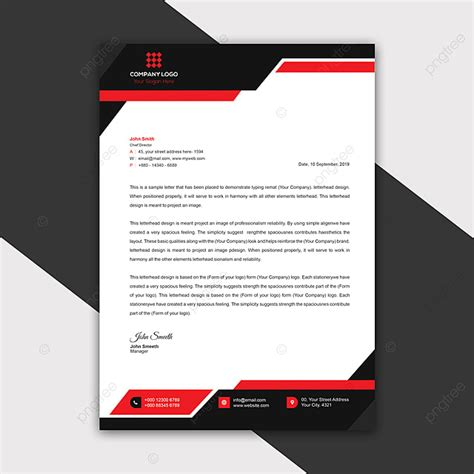 Modern Company Letterhead Template 2019 Template for Free