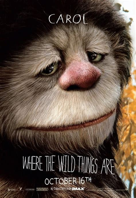 'Where The Wild Things Are' Movie Characte Poster ~ Carol