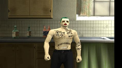 GTA San Andreas The Joker From Suicide Squad (Tattoos