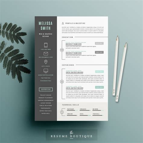 Resume Template 4 page pack   Iconic ~ Resume Templates