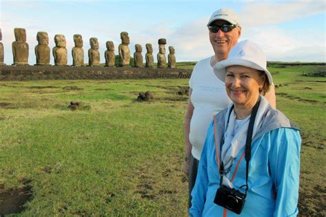 King Harald and Queen Sonja of Norway visit Easter Island