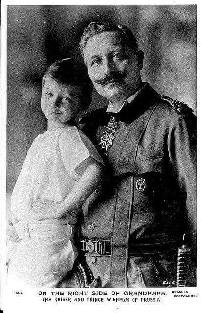 Kaiser Wilhelm ll of Germany,King of Prussia with his