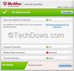 Download Removal tool for McAfee Security Scan Plus