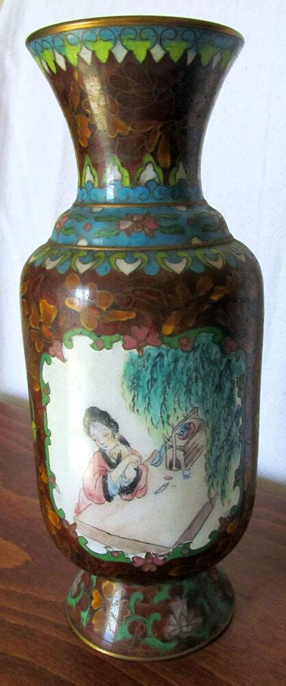Old or Antique Chinese Cloisonne Vase with Rare Wireless
