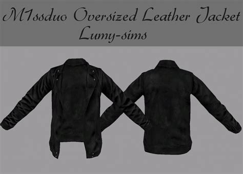 M1ssduo Oversized Leather Jacket at Lumy Sims » Sims 4 Updates