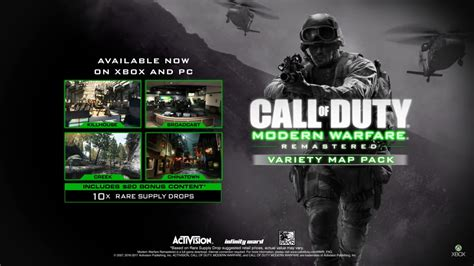 Modern Warfare Remastered Variety Map Pack available now