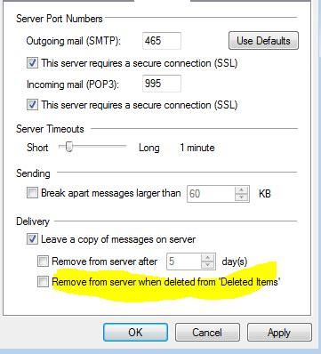 Incoming mail server (POP3) and Outgoing mail server