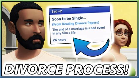 REALISTIC DIVORCE MOD! | The Sims 4 (by Zero) - YouTube